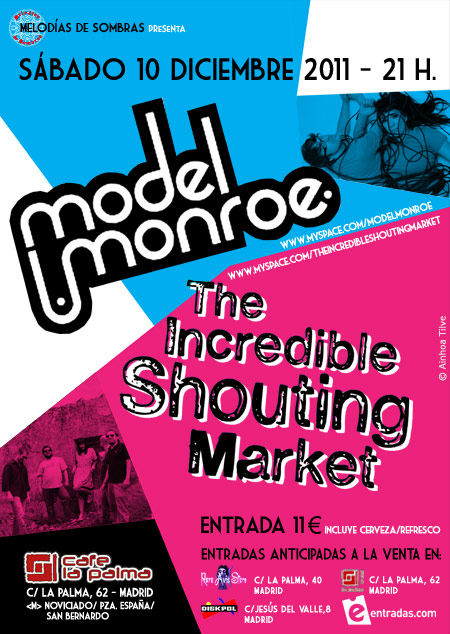 Model Monroe + The Incredible Shouting Market 10-12-11