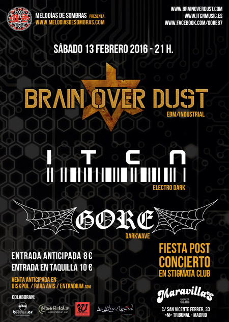 Brain Over Dust + ITCN + Gore 13-2-16
