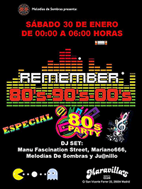 Fiesta Remember Especial 80s 30-1-16