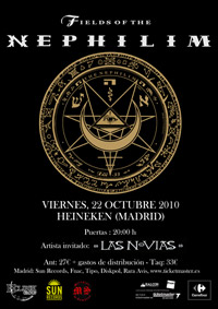 Fields of the Nephilim + Las Novias 22-10-2010