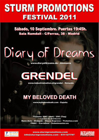 Diary of Dreams + Grendel + My Beloved Death 10-09-2011