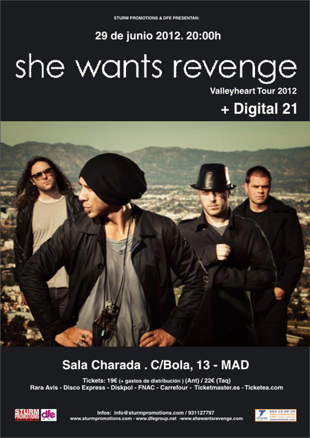 She Wants Revenge + Digital 21 29-06-2012
