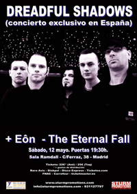 Dreadful Shadows + Eôn + The Eternall Fall 12-05-2012